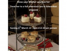Celebrate Mothers Day by the sea with an afternoon tea